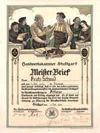 Friseur Meisterbrief Erich Schmid
